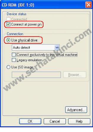 VMWare - CD ROM