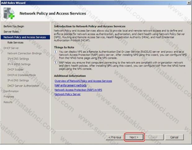 Network Policy Server Kurulumu 4