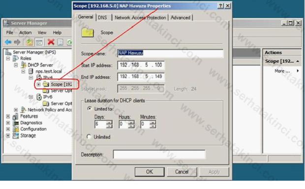 NAP İçin DHCP Ayarları 1