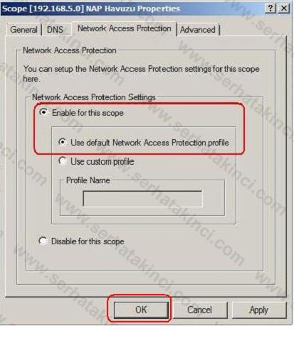 NAP İçin DHCP Ayarları 2