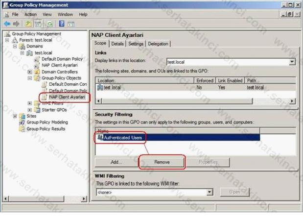 NAP Client Policy Ayarları 9