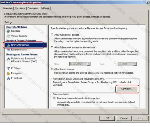 NAP Remediation Server Nasıl Yapılandırılır 9
