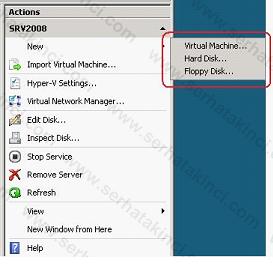 Hyper-V Manager Ayarları 3