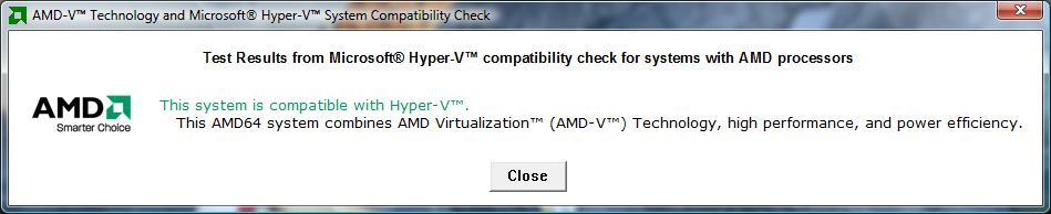 AMD İşlemci - Sanallaştırma Uyumluluk Testi