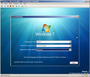 Hyper-V ve Windows7 - Resim 2