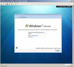 Hyper-V ve Windows7 - Resim 3
