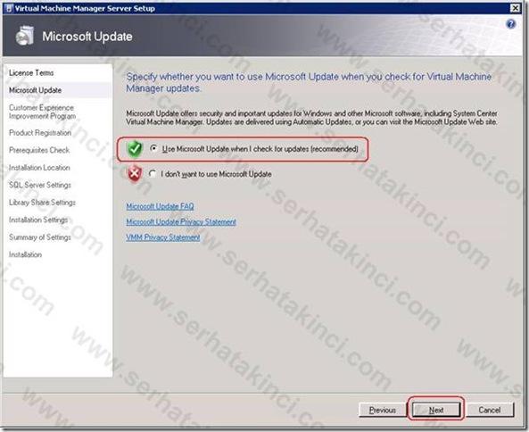 VMM Server Kurulumu - Adım 3
