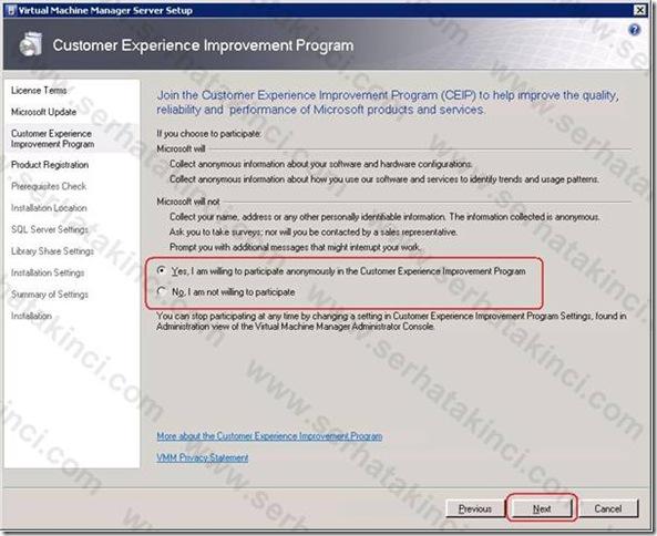 VMM Server Kurulumu - Adım 4