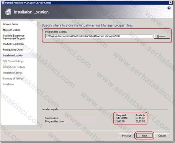 VMM Server Kurulumu - Adım 7