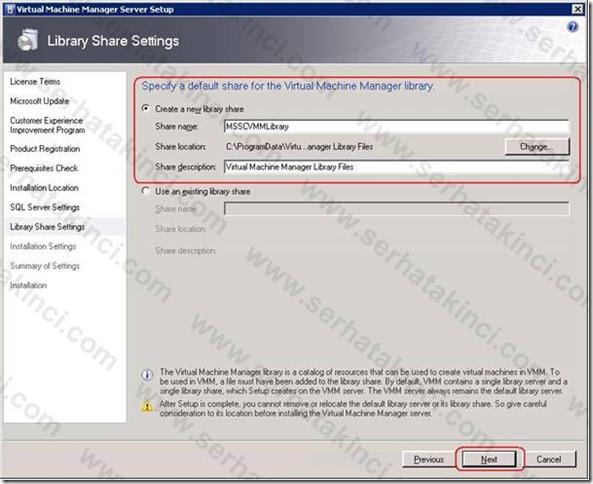 VMM Server Kurulumu - Adım 9