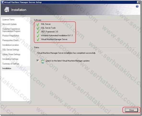 VMM Server Kurulumu - Adım 13