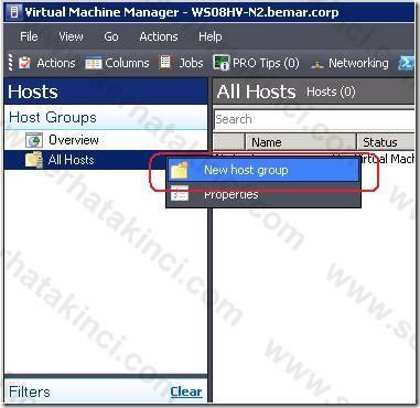 Windows Host Ekleme İşlemleri - Adım 2