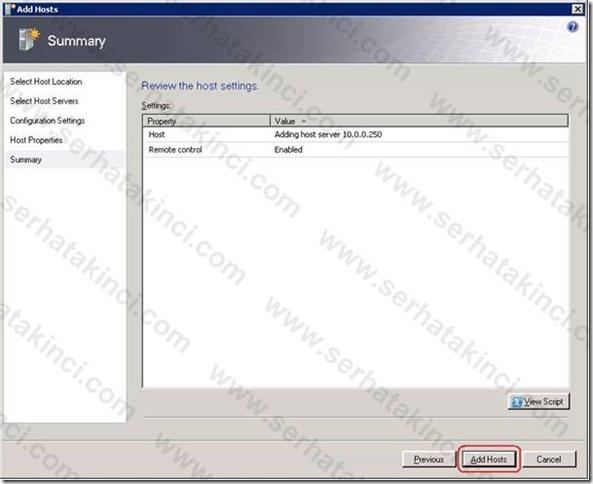 Windows Host Ekleme İşlemleri 19