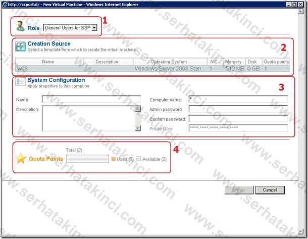 Self-Service Portal Kullanıcı Aksiyonları 3