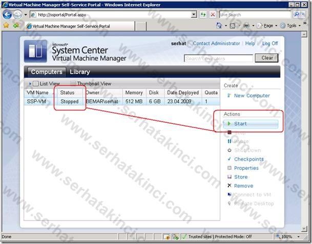 Self-Service Portal Kullanıcı Aksiyonları 11