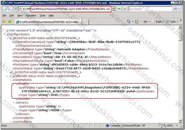 Sanal Makine XML Dosyası 2
