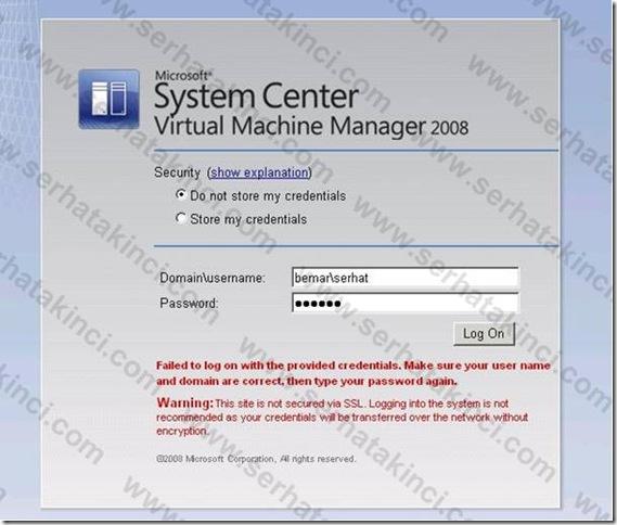 VMM Self-Service Portal User Role - Adım 15