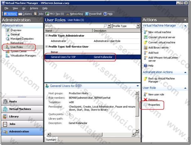 VMM Self-Service Portal User Role - Adım 17