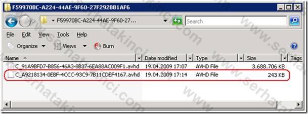 Snapshot AVHD Dosyaları