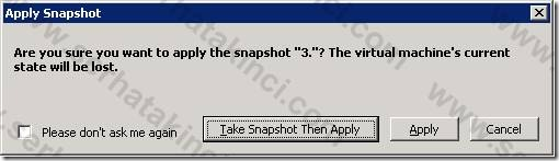 Hyper-V Snapshot Geridönüş 2
