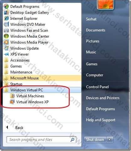 Windows Virtual PC Kurulumu - Adım 5