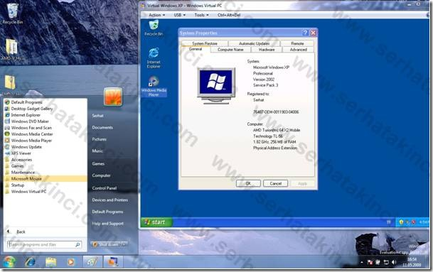 Windows 7 XP Mode Kullanımı - Adım 2