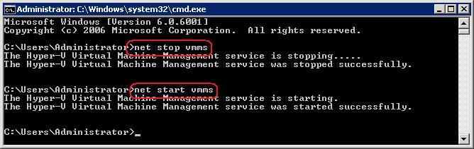 net stop vmms