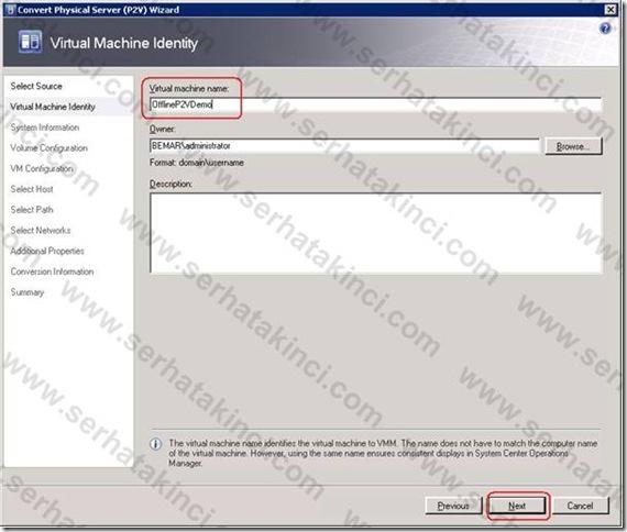VMM Offline P2V - Adım 4