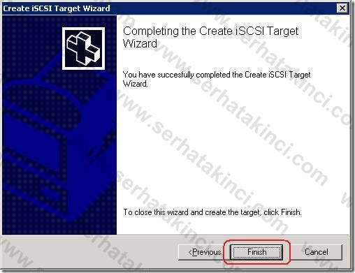 iSCSI Target Tanımı - Adım 6