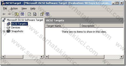 Microsoft iSCSI Software Target Yönetim Konsolu