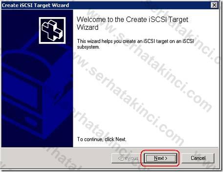 iSCSI Target Tanımı - Adım 8