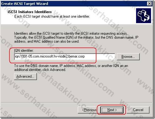 iSCSI Target Tanımı - Adım 11