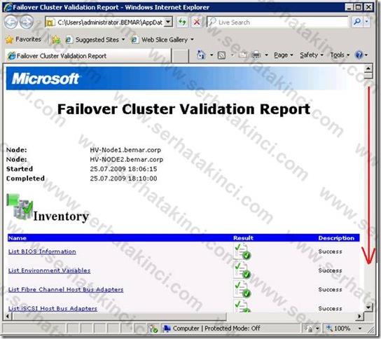 Failover Cluster Kurulumu Öncesi Kontroller - Adım 11