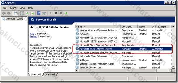 Microsoft iSCSI Initiator Service