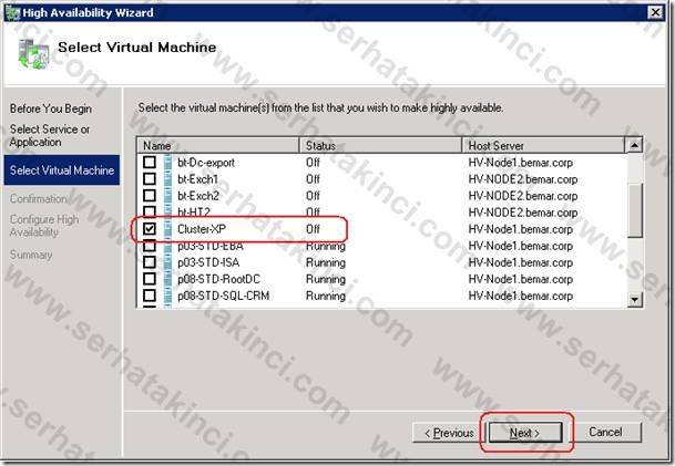 Failover Cluster Virtual Machine - Adım 6