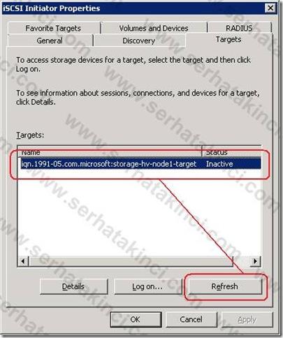 iSCSI Target - Sanal Disk 2
