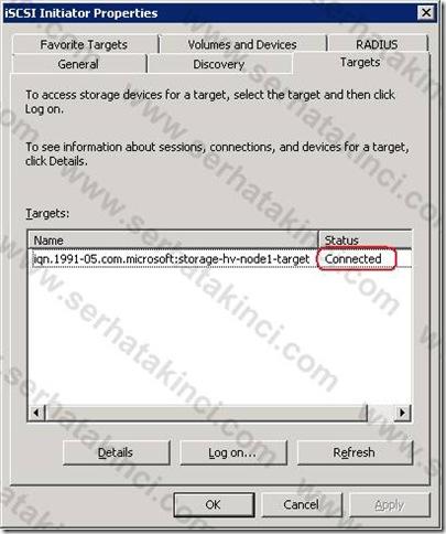 iSCSI Target - Sanal Disk 4