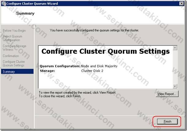 Cluster Quorum Ayarları - Adım 7