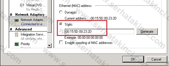Static MAC Address