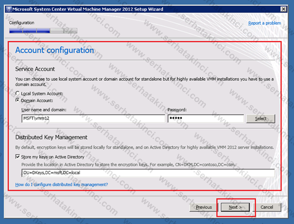 Virtual Machine Manager 2012 Kurulumu - Adım 18