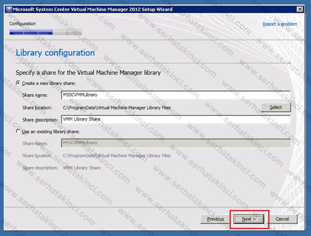 Virtual Machine Manager 2012 Kurulumu - Adım 23
