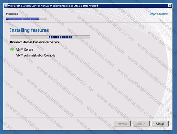 Virtual Machine Manager 2012 Kurulumu - Adım 25