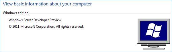 Windows Server Developer Preview