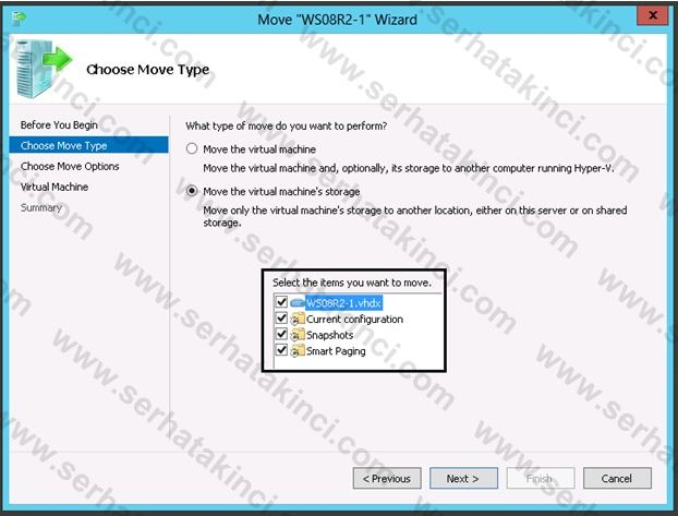 Hyper-V Manager Live Storage Migration