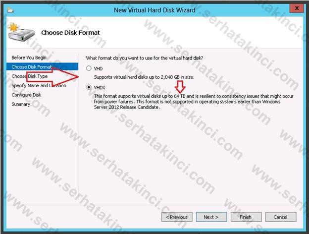 Yeni VHDX Formatı