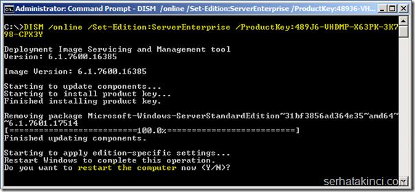 DISM /online /Set-Edition:ServerEnterprise /ProductKey