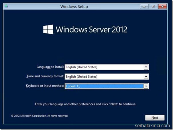 Windows Server Kurulumu - Adım 2