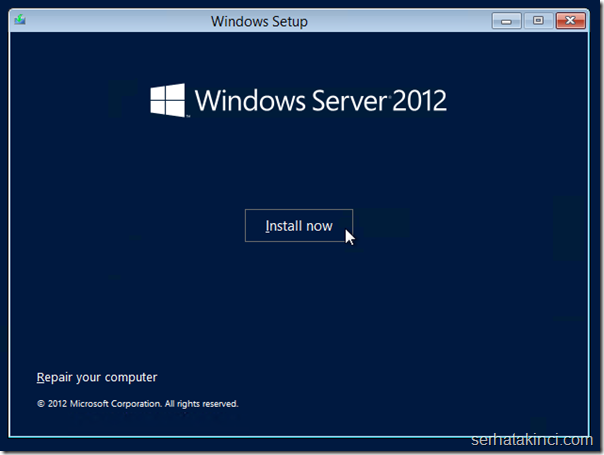 Windows Server Kurulumu - Adım 3