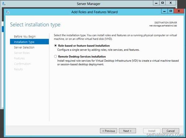 Microsoft iSCSI Target Kurulumu - Adım 2