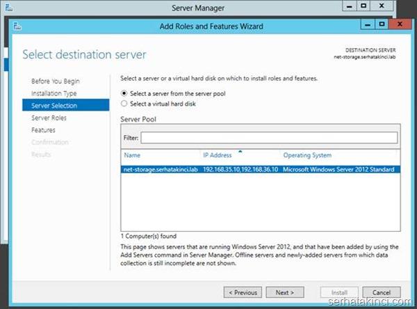 Microsoft iSCSI Target Kurulumu - Adım 3